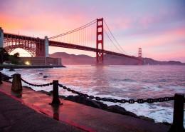 美国旧金山金门大桥风景图片(13张)