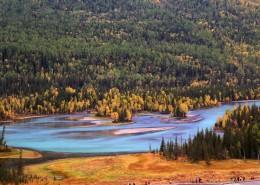 新疆喀纳斯自然风景图片(15张)