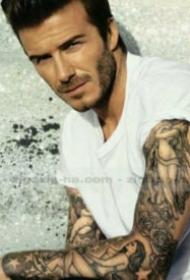 9张帅气的欧美纹身男士帅哥图片