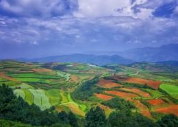 云南东川红土地自然风景图片(9张)
