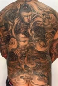 中国传统风格的大满背纹身作品9张