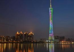 绚丽的广州塔夜景图片(9张)
