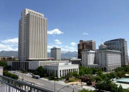 美国盐湖城城市风景图片