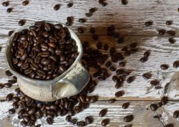 杯子里的咖啡豆图片(10张)