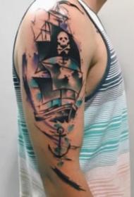 9张大臂上的漂亮水彩纹身图案