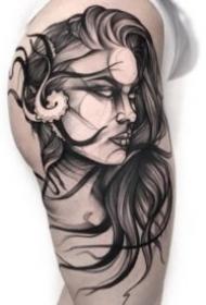 25组帅气的欧美暗黑纹身作品图案