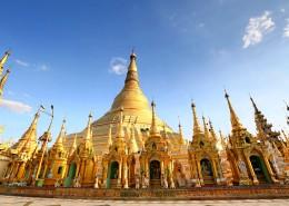 缅甸瑞光大金塔建筑风景