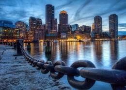 美国波士顿城市夜景图片(9张)