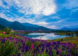 四川西岭雪山自然风景图片(8张)