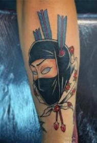日本忍者主题的9张忍者纹身图片