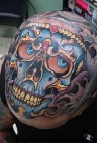 纹身骷髅   9组异域风格十足的嘎巴拉骷髅纹身图案