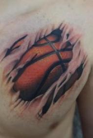 篮球图案纹身   多款热血沸腾的篮球纹身图案
