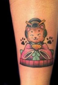 猫纹身图案 身体各部位的小猫纹身图案