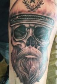 纹身人物图片   9款奇趣的胡子人物纹身图案