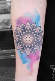 水彩纹身图片  9张水彩晕染的唯美纹身图案