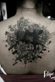 黑灰纹身风格  各部位铅笔素描等黑灰时尚纹身图案