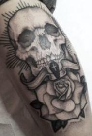 骷髅头纹身 多款风格迥异创意十足的骷髅头纹身图案