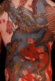 纹身龙图案 多款传统炫丽多彩形态各异的龙纹身图案