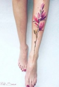 植物纹身图案 多款花朵与叶子的植物纹身图案图片