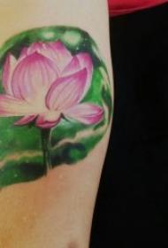 莲花纹身图案 多款漂亮形态各异的莲花纹身图案