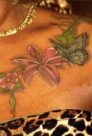 蝴蝶纹身图案 多款彩绘纹身动物蝴蝶纹身图案