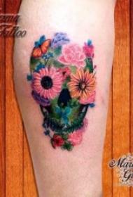 植物纹身图案 多款或黑灰或彩色十分漂亮的植物纹身图案