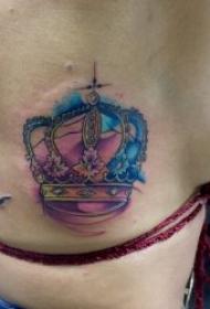 皇冠纹身图    8款高贵而又典雅的皇冠纹身图案