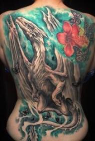 满背纹身图案 10款霸气的大满背纹身图案作品