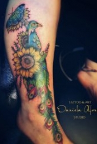 蝴蝶纹身图案 彩绘纹身动物蝴蝶纹身图案