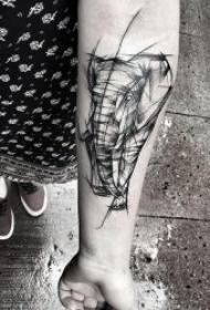 黑灰线条纹身 10款黑灰