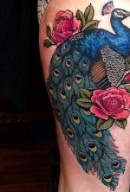 花朵纹身图案 彩绘纹身