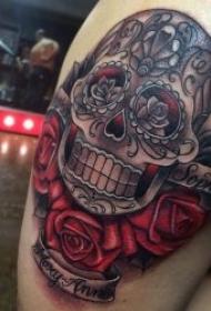 骷髅头纹身图案 10款彩色纹身创意花骷髅头纹身图案