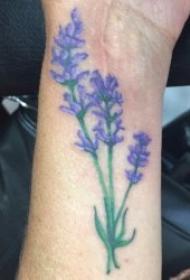 薰衣草纹身图案  9款颖长秀丽的薰衣草纹身图案