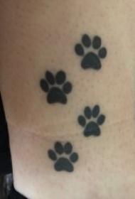 爪纹身图片  9款趣味横生的爪印纹身图案