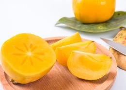 黄色香甜有营养的柿子图片(9张)