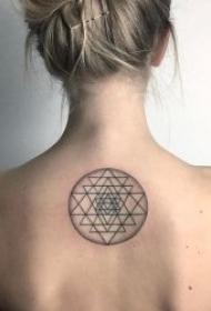 简笔画纹身图案 10张黑色线条纹身简笔画纹身图案