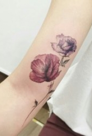 罂粟花纹身  9张妖艳迷人而又魅惑人心的罂粟花纹身图案