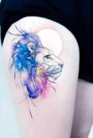 彩绘纹身 18组漂亮的唯美小水彩纹身图片