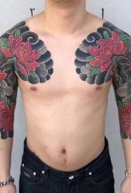 日式半甲图 日式风格的传统9组半胛纹身图案