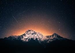 夜空中的流星图片(11张)