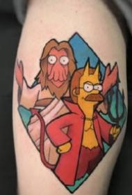 动画辛普森一家的卡通纹身图片