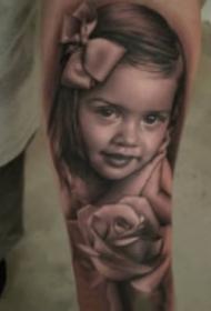 纹身肖像图 欧美写实的一组肖像人物纹身图片
