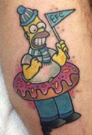 小卡通纹身 newschool彩色的一组卡通小可爱纹身图片