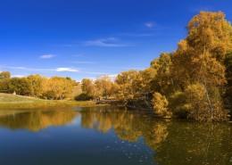 内蒙古乌兰布统公主湖自