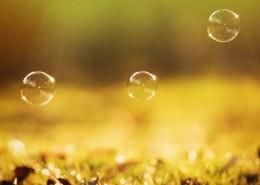 午后唯美梦幻多彩的泡泡