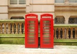 红色的电话亭图片(16张)