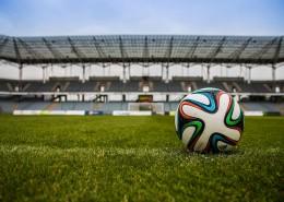足球场上的足球图片(11张)