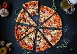 荤素搭配的披萨图片(11