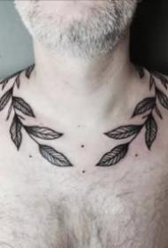 一组很好看的橄榄枝纹身图片