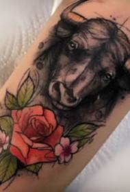 泼墨纹身 欧美泼墨风格的暗水彩动物纹身图案